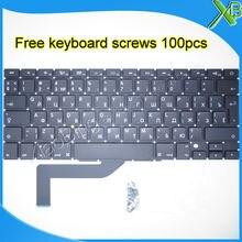 """Brand New Für MacBook Pro Retina 15,4 """"A1398 RU Russische tastatur + 100 stücke tastatur schrauben 2013-2015 jahre"""