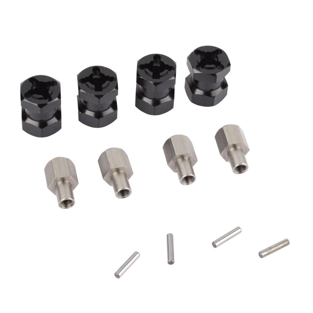 RC Crawler 1/10 aleación de aluminio 12mm rueda Hex Drive adaptador 15mm extensión adaptador para RC SCX10 WRAITH 90046