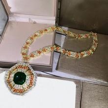 Bijoux en cuivre et zircone cubique, collier de fête, collier de styliste à la mode 3A