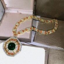 Di Modo del progettista Dei Monili di Rame 3A Cubic Zirconia Collana Del Partito