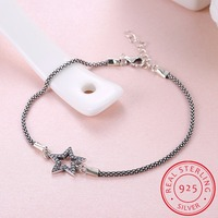 INALIS 925 Sterling Silver Bracelet New Creative Star Sterling Silver Bracelet For Women Girl Female Jewelry