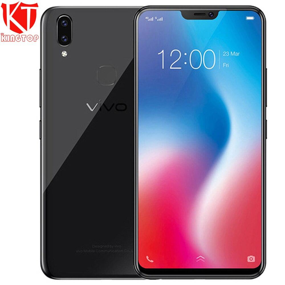 "Global firmware VIVO V9 Mobile phone 6.3"" 19:9 Full Screen Snapdragon 626 Octa Core 4GB RAM 64GB ROM Dual Camera 4G Android 8.1"