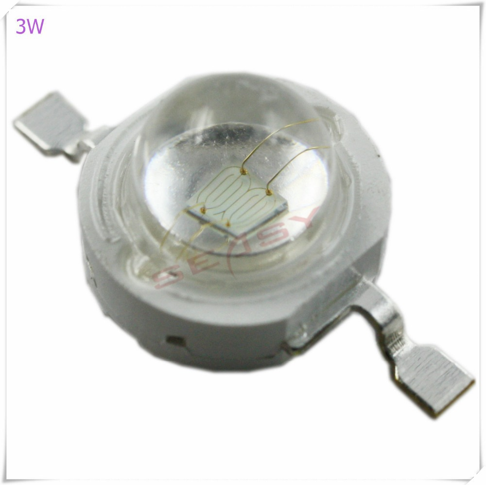 10pcs <font><b>3W</b></font> <font><b>UV</b></font> 420nm-430nm <font><b>LED</b></font> High Power <font><b>LED</b></font> Chip (Not contain the PCB Board) image