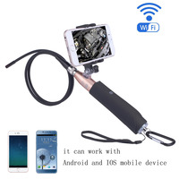 HD 1280P Wireless WIFI Endoscope Video Inspection Snake Camera 2 0 Mega Pix 8mm 6 LED