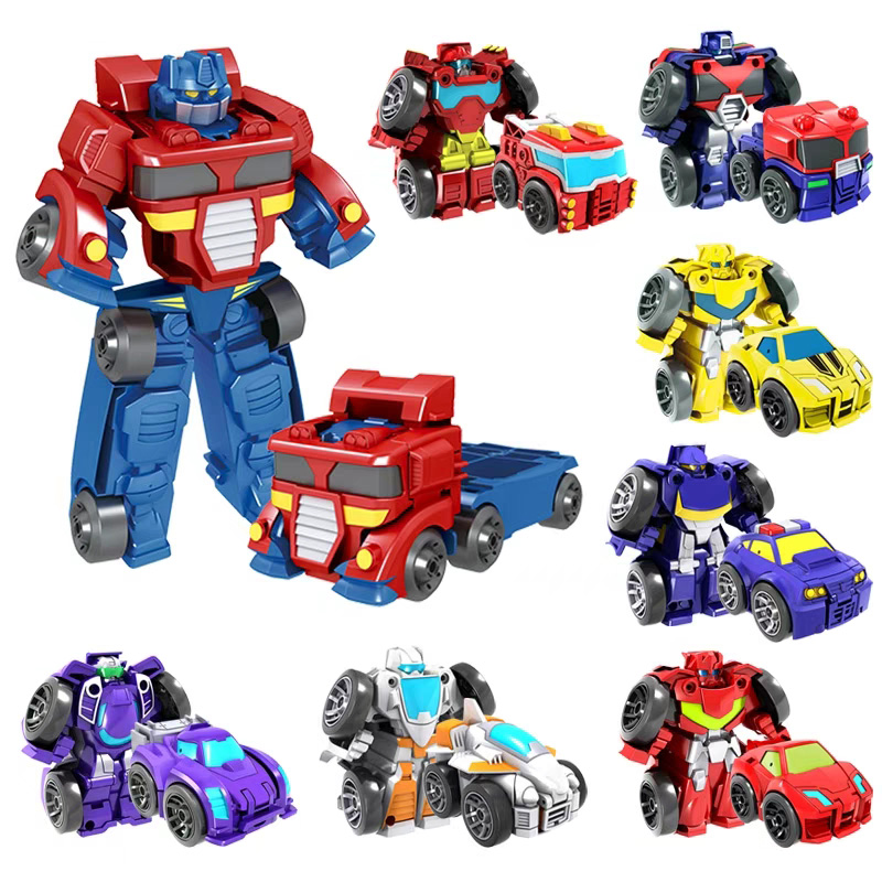 MYHOESWD Pull Back Car Transformation Robots Car Sports Vehicle Model Robots Toys Cool Deformation Toy Kids Toys Gifts For Boys