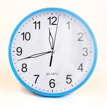 TiTa Dong Round Big Number Candy Color Brief 22.5CM Diameter Numerals Wall  Clocks Quartz Clock Needle Office Class Room DecorT2