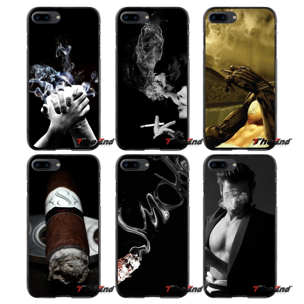 For Apple iPhone 4 4S 5 5S 5C SE 6 6S 7 8 Plus X iPod Touch 4 5 6 Accessories Phone Shell Covers Cigarette Smoke