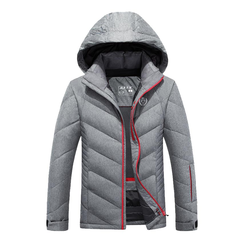 Hot stylish winter ultra light white duck down jacket men new brand slim fit mens jackets