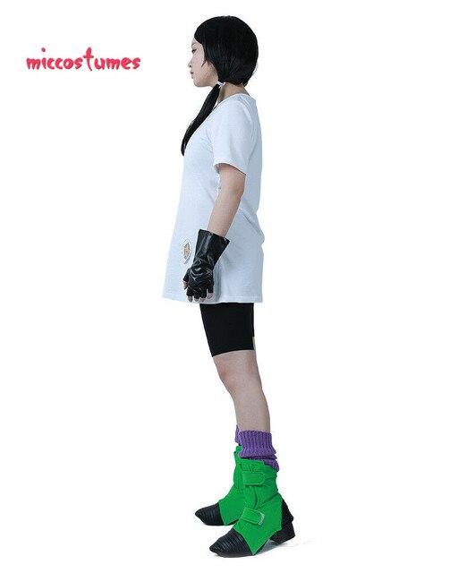 Disfraz de Dragon Ball Z Videl Cosplay con guantes y cubiertas para zapatos