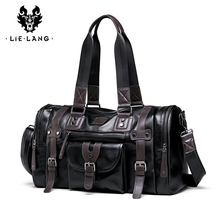 LIELANG Travel Bag Men's Handbag Men's Sports Fitness Bag Leisure Travel Tourism Large Capacity Leather Handbag Bag Tide цена в Москве и Питере