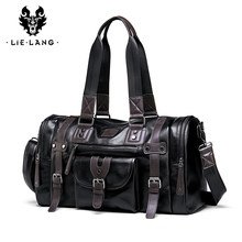 LIELANG Travel Bag Men's Handbag Men's Sports Fitness Bag Leisure Travel Tourism Large Capacity Leather Handbag Bag Tide(China)