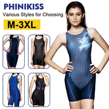 Phinikiss women professional swimwear swimsuit sports one piece bathing suit Racing Competition athletic bodysuit Female 10002