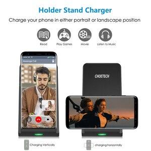 Image 4 - CHOETECH Беспроводная зарядка 10 Вт QI Быстрое беспроводное зарядное устройство Подставка Беспроводная зарядная станция для iPhone 12 Samsung huawei xiaomi