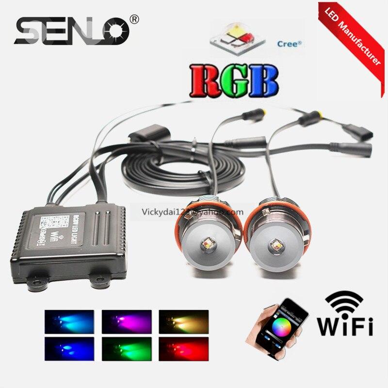 Aucune erreur E39 20 W led rgb indicateur led pour bm w e39 e60 e61 e38 e66 led ange eye rgbw chaud populaire Wifi couleurs changer