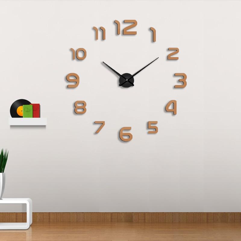 muhsein 2018 dekoráció falióra óra DIY akril tükör fal - Lakberendezés