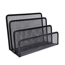 Metalen Mesh Brief Sorter Mail Lade Bestand Boekensteunen Bedrijfsnaam Kaarthouder Boek Display Stand Rack Desktop Tafel Organisator(China)