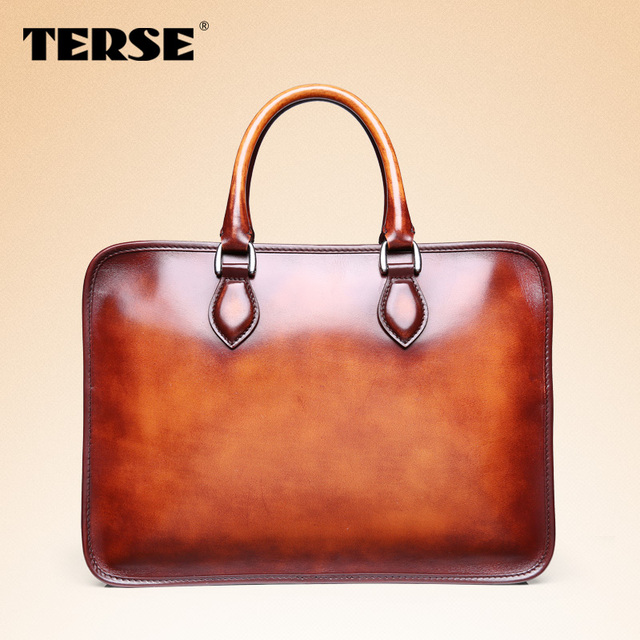 13b14ea6853896 TERSE 3D-Embossing handmade bespoke luxury mens briefcase Italian Genuine  Leather bag, Mens Leather Handbag, Designer Bag