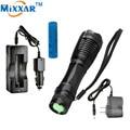 Ruzk5 led lanterna 4000 lm xm-l t6 torch zoomable led lanterna com carregador ac + bateria + carregador de carro