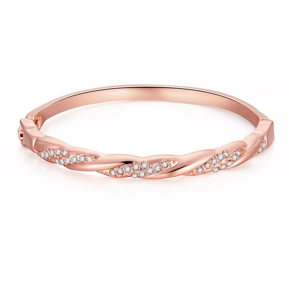 Fensky Hot Fashion Female Elegant Geometric Lines Gold Color ...
