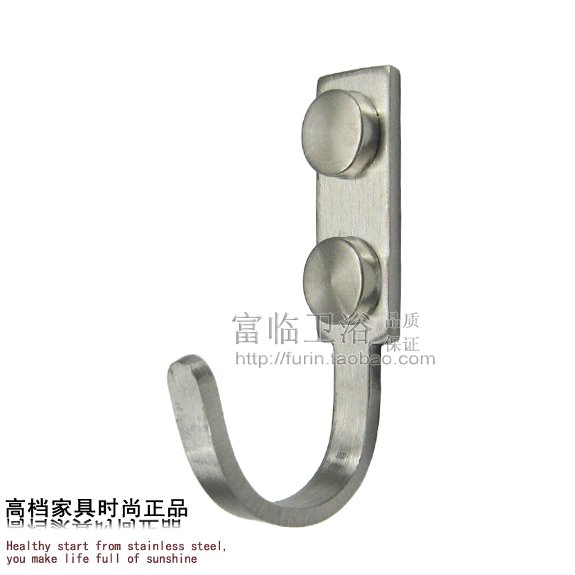 Brief type stainless steel bathroom clothes thickening single hook clothes  hanging hook coat hooks thick for