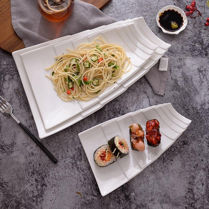 Western Salad Dishes: 2PCS Ceramic Dishes Western Food Beefsteak Dish Cake
