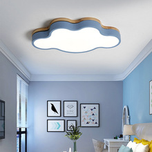 Wood Lovely Sweet Cloud Creative Ceiling Light for Children s Room Colorful Lamps Bedro Home Lighting Acrylic