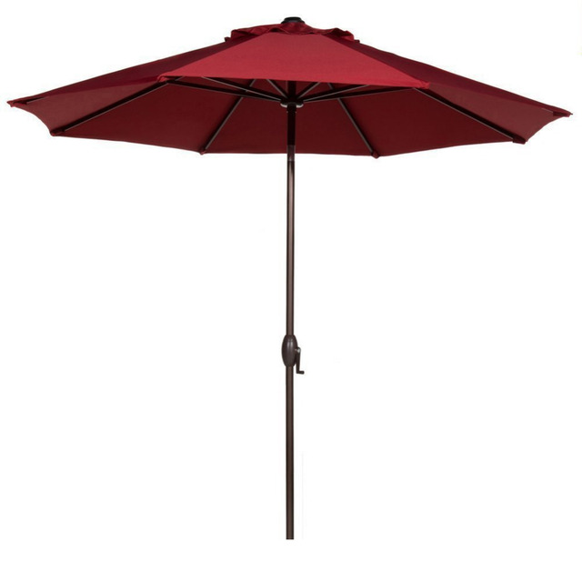 abba patio 9 feet market aluminum umbrella with auto tilt and crank 9 Foot Umbrella Base