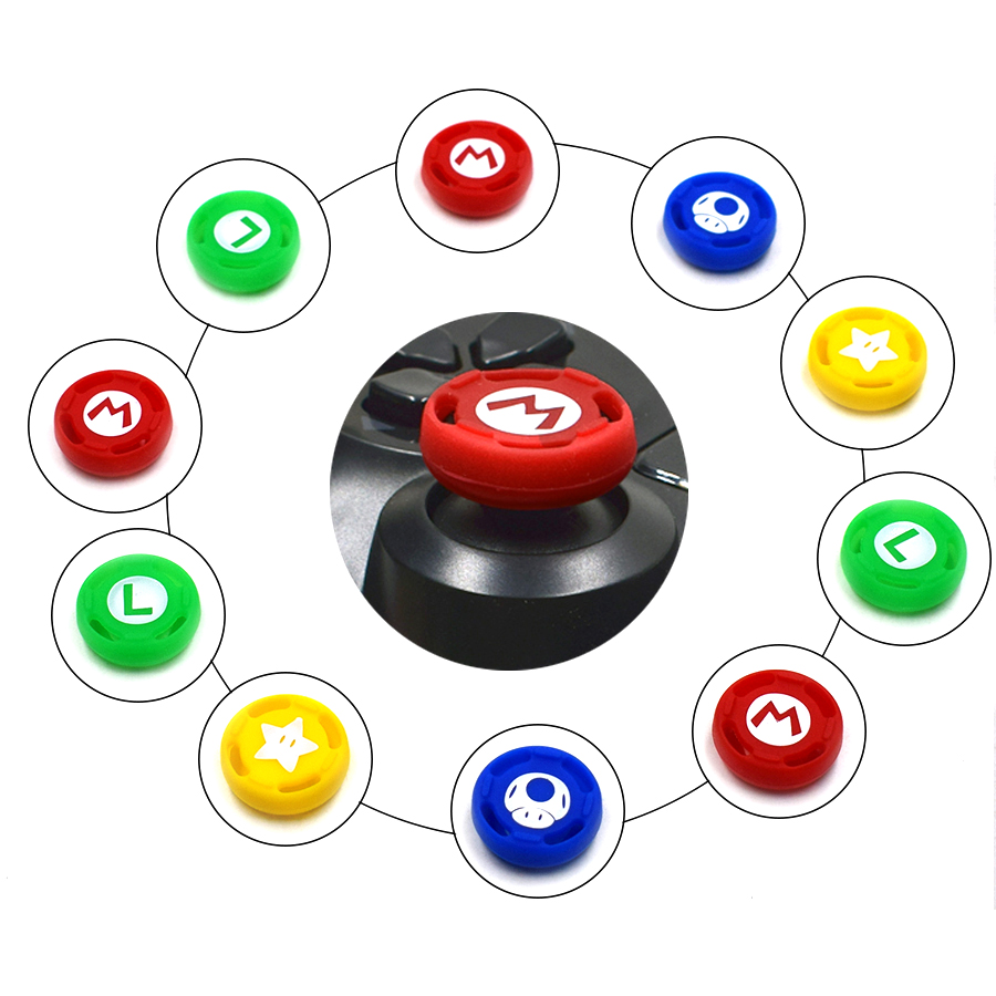 4 pcs High-quality Controller protective Silicone Caps Analog Case Cover Skin for Nintend Switch Pro Joysticks 3