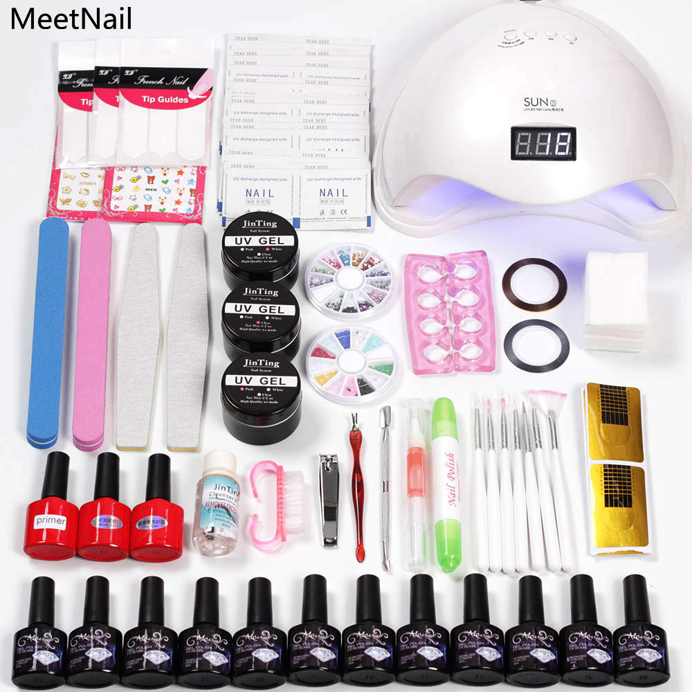 Manicure Set With Lamp Nail Kit 6w 48w UV LED Lamp For Nail Art Sets 12pcs 8ml UV Gel Nail Polish Tools Set For Manicure ToolsManicure Set With Lamp Nail Kit 6w 48w UV LED Lamp For Nail Art Sets 12pcs 8ml UV Gel Nail Polish Tools Set For Manicure Tools