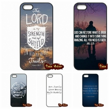 Christian Jesus Bible Verse Cover Case For Apple iPhone 4 4S 5 5C SE 6 6S Plus 4.7 5.5 iPod Touch 4 5 6