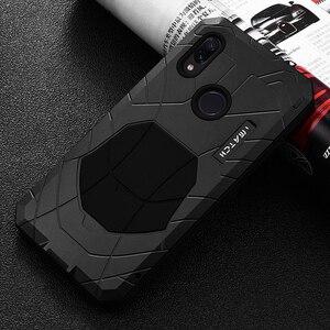 Image 3 - Robuuste Case Voor Xiaomi Redmi Note 7 Shockproof Heavy Duty Armor Hard Rubber & Aluminium Metal Cover Xiaomi Redmi Note 7 Pro Case
