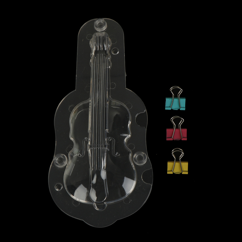 Diy Candy Mold Craft Polycarbonate Fondant Cake Decorating 3d Chocolate Mould Violin Shape Mold Guitar Baking Tools Kitchen,dining & Bar Home & Garden