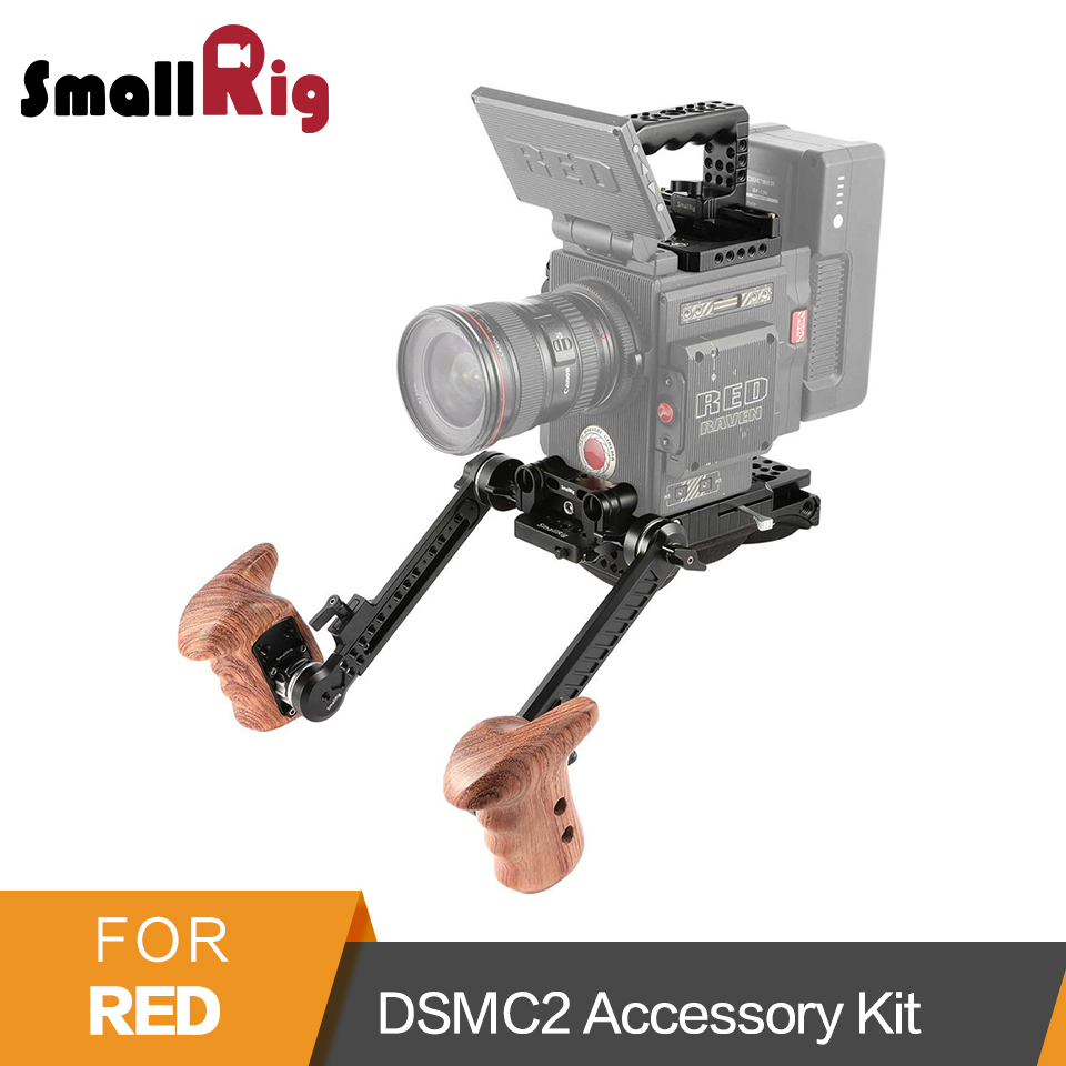 SmallRig for RED DSMC2 Accessory Kit (NATO Top Handle +Top Handle+Arri Baseplate+Shoulder Pad+Wooden Grip+Extension Arm) -2102
