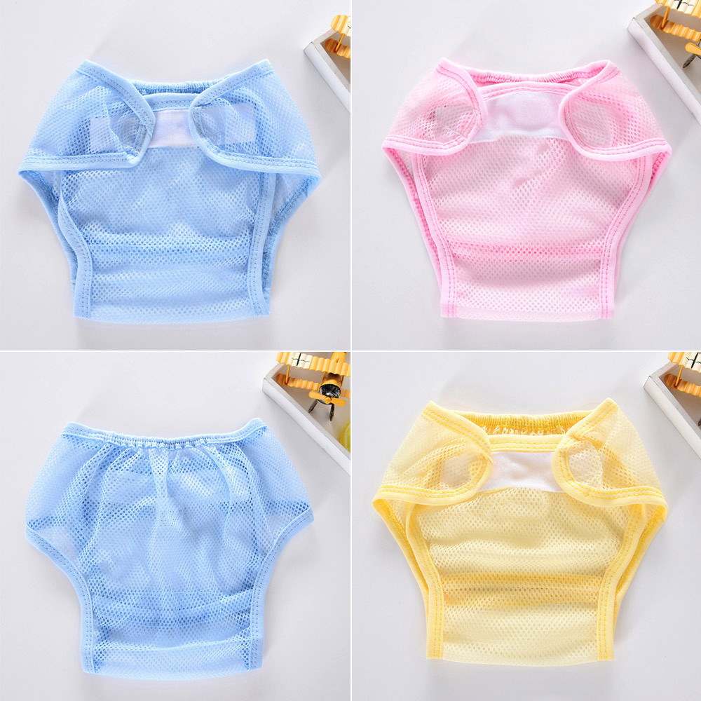 2017 Hot sale Baby Infant Solid Gauze Cloth Diapers Reusable Nappy Washable Snap Nappy babies mesh breathable cloth diapers