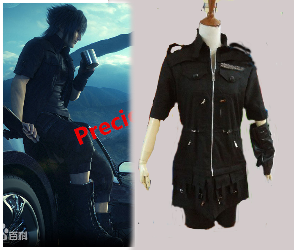 Final Fantasy Noctis Lucis caelum Cosplay Costume Outfit Top Veste Pantalon Gant