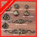 Anéis gota de Bronze gaveta do armário knob puxe dresser maçaneta da porta de bronze antigo estilo vintage botão com backplate móveis alças