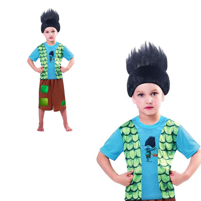 Trolls de verão Conjuntos de Roupas Trajes de Ano Novo Para As Crianças Para Adolescentes Fantasias de Carnaval Roupa Dos Miúdos Meninos Monya