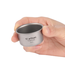 Tiartisan 35ml Titanium Tea Cup coffee mug Ultralight Mini Camping Picnic Pocket Whiskey Wine Mug Outdoor teacup