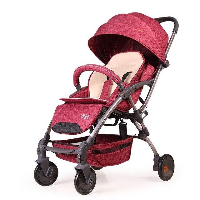 Aluminum Frame Lightweight Folding Umbrella Baby Stroller Portable Travel System Airplane Boarding Pram Buggy Pushchair 0~36M
