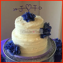 2016 Free Shipping Monogram Wire Cake Toppers Wedding Cake Decorations Customized Couple Name Wedding Favors Wire Cake Toppers