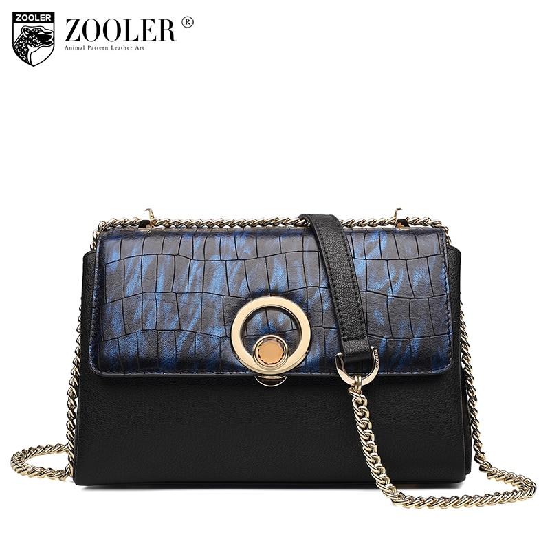 ZOOLER 2017 Fashion chain Cross-body bag Stone Pattern& Button design Women  leather  Messenger Bags lady bolsa femininaH111 lipstick chain cross body bag