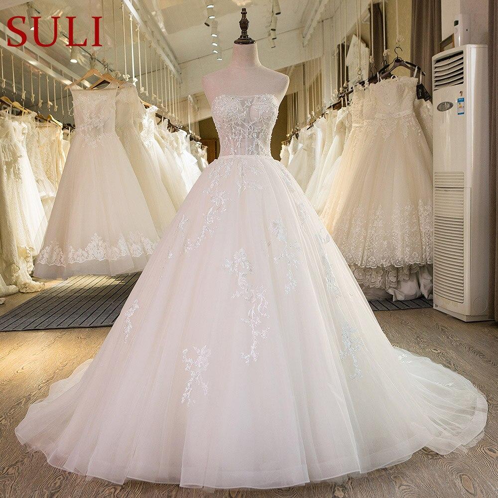 SL-43 Custom baru dibuat gambar sebenar vintaj renda gaun pengantin pengantin 2017