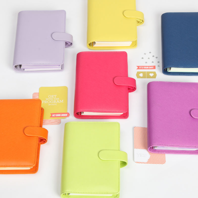 Dokibook Free shipping new notebook colored A5 A6 loose-leaf Time Planner/Organizer Candy Series personal leather Daily Memos