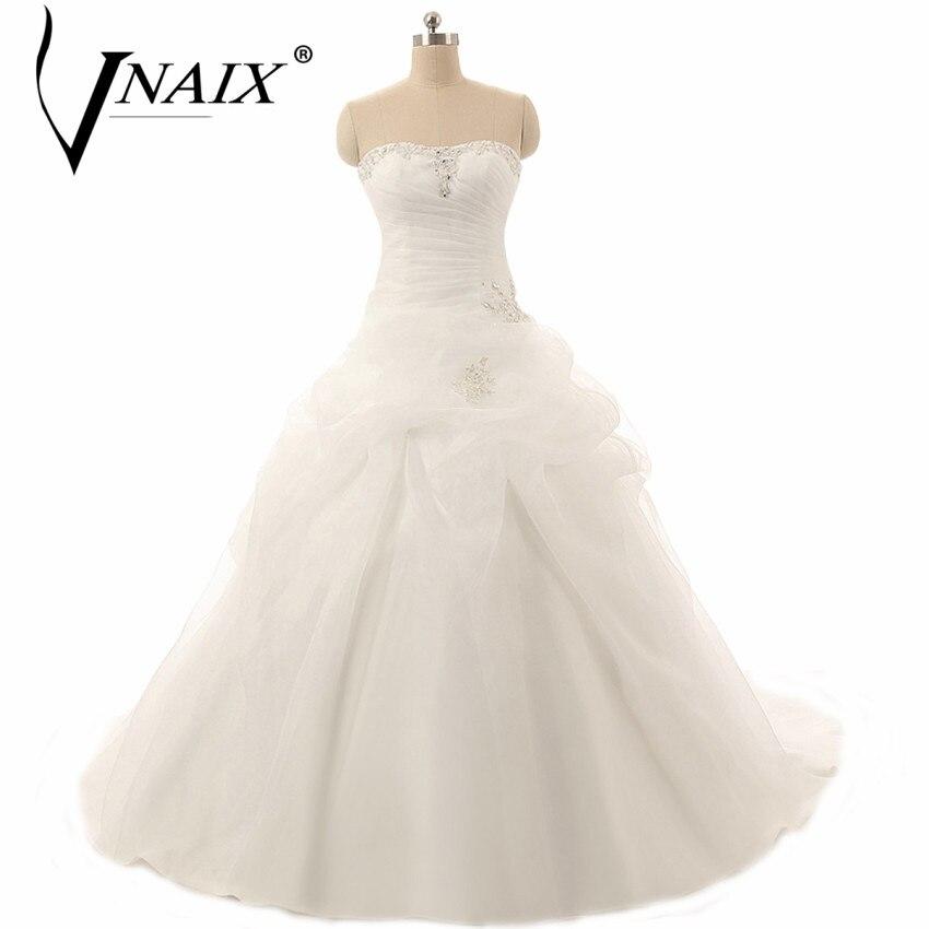 Vnaix W357 Элегантный Длинные шифон Свадебные платья 2 015 Пляж платья свадебные Свадебные Длина пола Лето Стиль