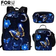 FORUDESIGNS Children School Bags 3D Beauty Butterfly Animal