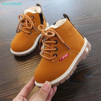 fe7c00852 Niño niña nieve botas 2018 nuevo invierno para niños Comfort gruesa  antideslizante botas cortas de moda