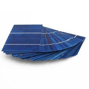 Image 2 - 50 pièces/lot 78*52mm 0.66W panneau solaire Mini système solaire bricolage batterie téléphone chargeur Portable cellule solaire Sunpower peinture charge
