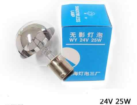 New 24V 25W Medical shadowless lamp Single hole cold light bulb Surgical light bulbs Insert button