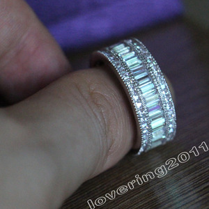 Image 4 - Choucong מלא נסיכה לחתוך אבן 5A זירקון אבן 10KT לבן גולדפילד אירוסין טבעת נישואים טבעת סט Sz 5  11 מתנה