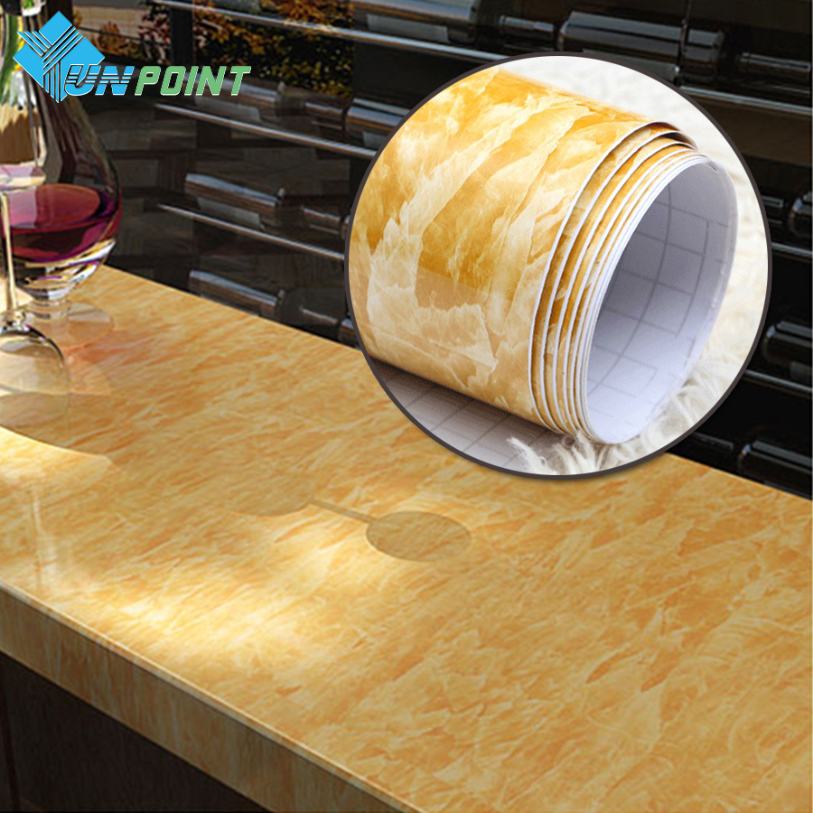 ∞3M /5M Glossy Marble Wall Stickers Bathroom Waterproof Decorative ...